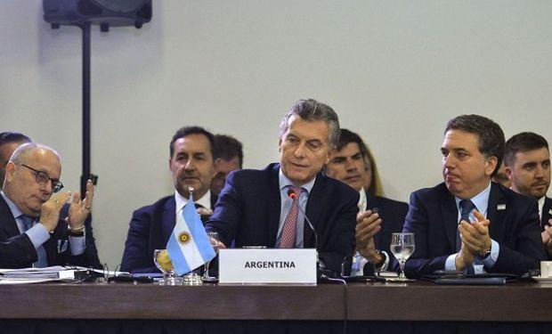 Mauricio Macri en la cumbre del Mercosur.