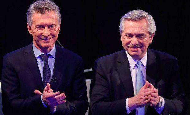 Mauricio Macri y Alberto Fernández,