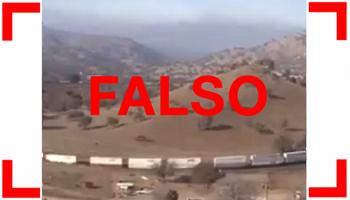 Falso: el video viral del tren no es el Belgrano Cargas