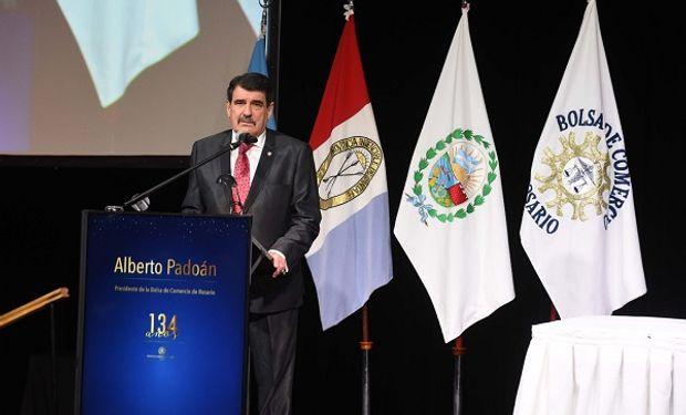 Presidente de la Bolsa de Comercio de Rosario, Alberto Padoán