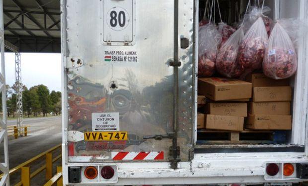 El Senasa comunicó el decomiso de 160 kg de carne con hueso que se pretendía ingresar a la Patagonia.