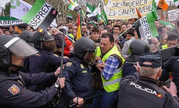 Movilización en España. Foto: El País.