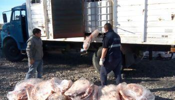 El Senasa detectó en Río Negro 3.000 kilos de carne sin documentación