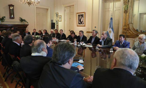 Macri junto a la Mesa de la Competitividad de la Carne.