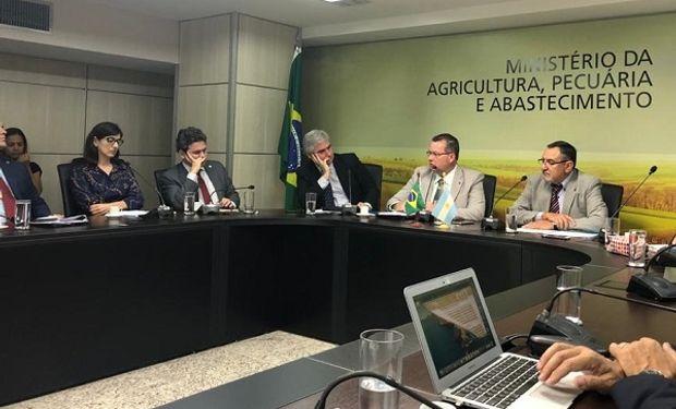Encuentro bilateral entre funcionarios argentinos y brasileños.
