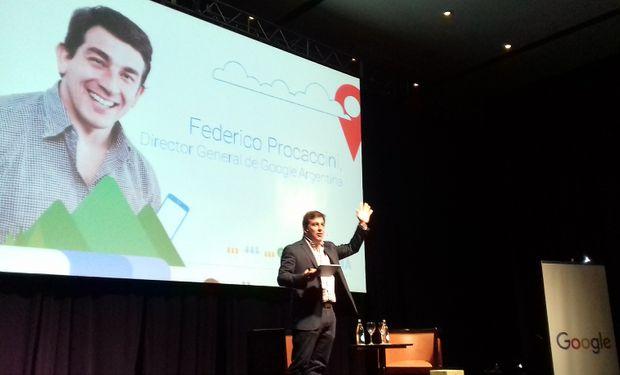 Federico Procaccini, director general de Google Argentina en la apertura del evento.