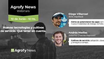 #AgrofyNewsWebinars: nuevas tecnologías para el agro y cultivos de servicio