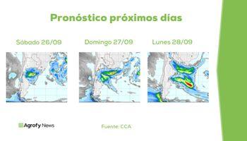 Informe: las lluvias que se esperan para el fin de semana y, ¿un nuevo frente entre martes y miércoles?
