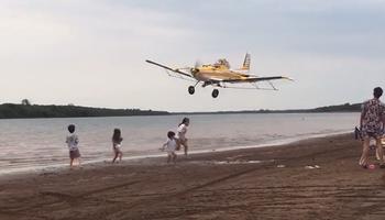 Video: la temeraria maniobra de un piloto que generó fuerte rechazo de aeroaplicadores