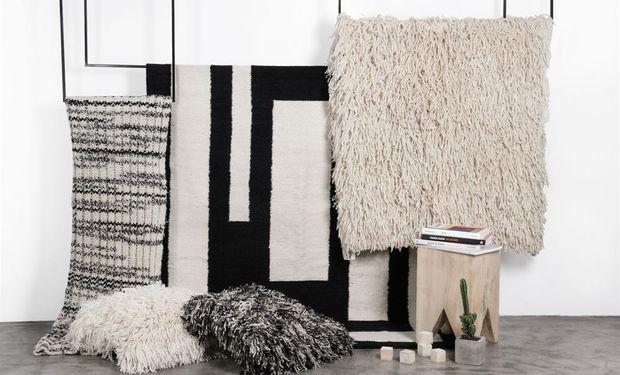 Las alfombras realizadas por comunidades rurales, entre otros productos, estarán en la tienda on line.