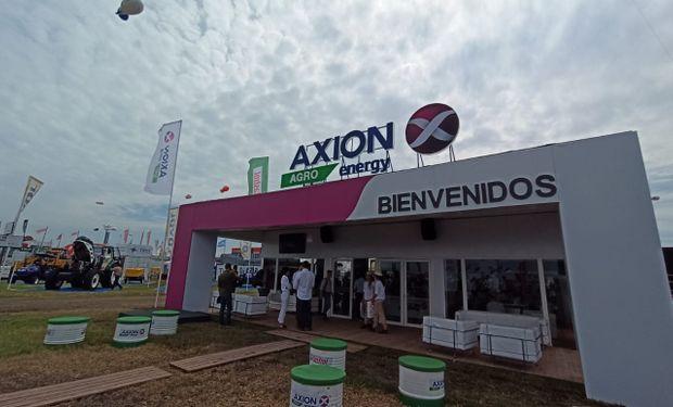 Durante Expoagro, Axion invitó a los visitantes a jugar e informarse.