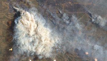 La NASA captó en imágenes la magnitud de los incendios en La Pampa