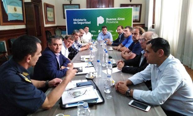 Reunión entre Federación Agraria y el Ministerio de Seguridad de Buenos Aires.