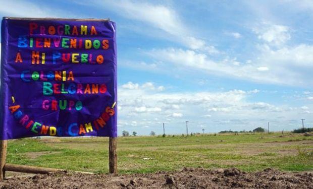 Colonia Belgrano, un pueblo santafesino que ya recibió 15 familias nuevas.