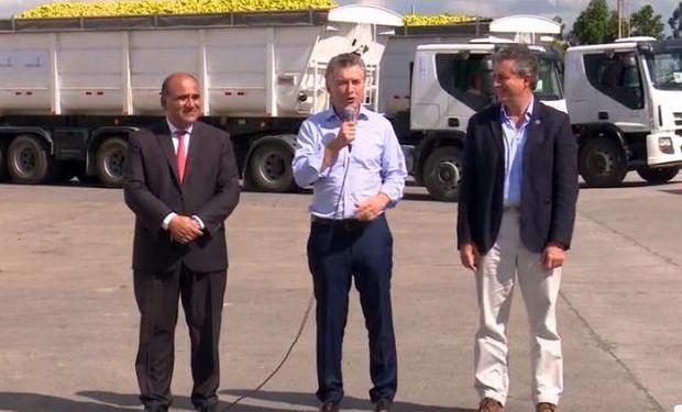 """Durante el acto, Macri expresó que están """"apostando a las economías regionales""""."""