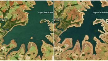 Brasil: dos fotos de la NASA revelan la peor sequía en 91 años