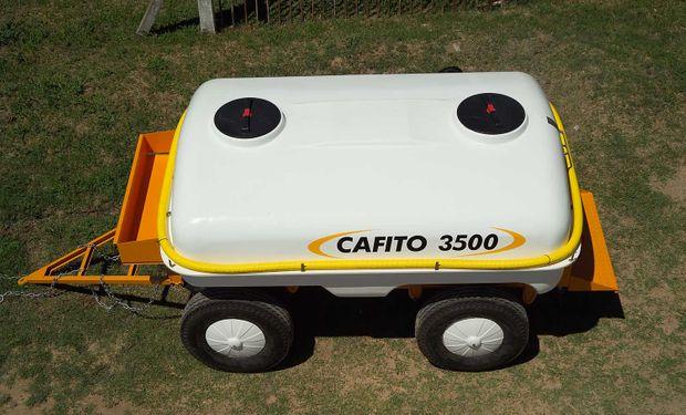 Acoplado Tanque Cafito 3.500 Línea Amarilla.