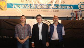 Achetoni fue reelegido como presidente de Federación Agraria