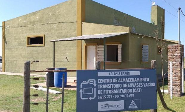 Centro de Acopio Transitorio en La Pampa.