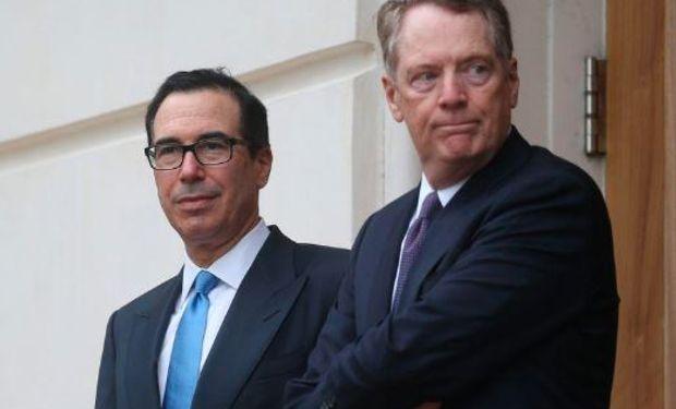 Se firma hoy la Fase 1 del acuerdo comercial. Representante Comercial, Robert Lighthizer, y el secretario del Tesoro, Steven Mnuchin.