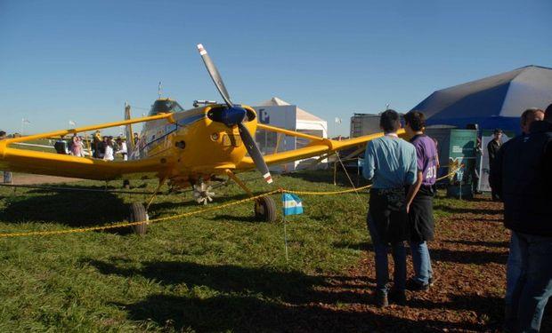 Espacio destinado a la aviación agrícola en AgroActiva.