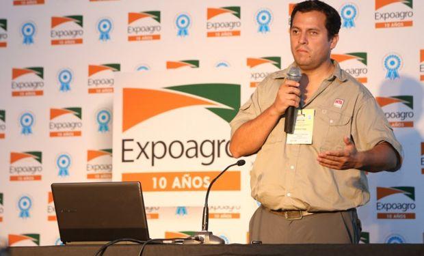 El ingeniero agrónomo Fernando Scaramuzza, del INTA Manfredi, ofreció una conferencia en el Auditorio Verde de Expoagro.
