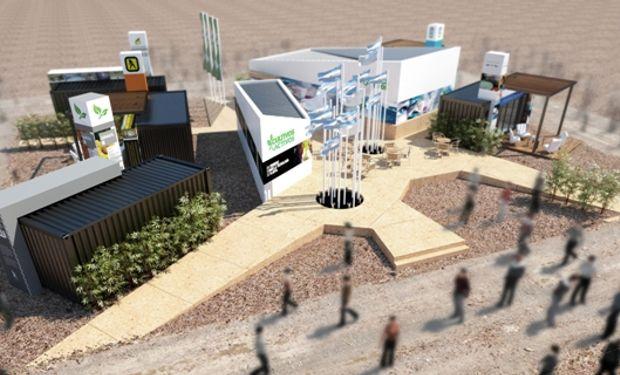 La Tecnoplaza se ubicará en un punto central de la feria, tendrá un diseño moderno y cómodo para la circulación con el objetivo de incentivar a los visitantes a ingresar a la misma.