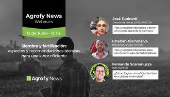 #AgrofyNewsWebinars: recomendaciones para siembra y fertilización