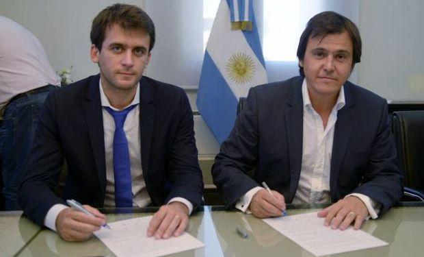 El subsecretario de Coordinación Política, Hugo Rossi, junto al secretario de Coordinación y Desarrollo Territorial, Santiago Hardie
