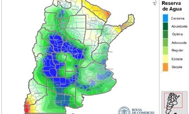 Las reservas del suelo según las necesidades de una pradera permanente para julio del 2016. Fuente: Bolsa de Comercio de Rosario.