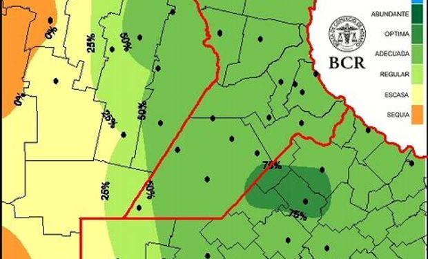 Mapa de reserva de agua para pradera al 3/9/15.