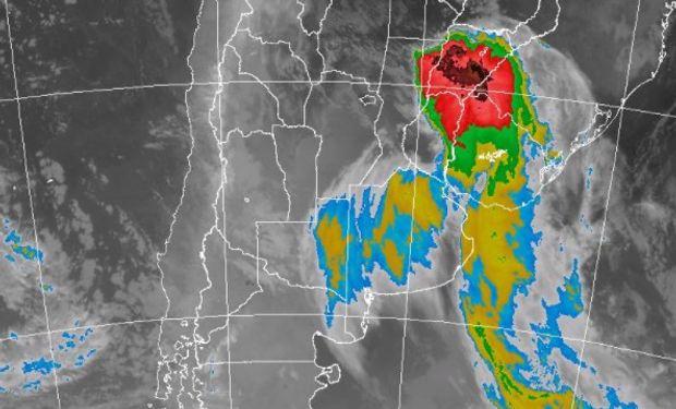 Alerta del SMN por lluvias y tormentas intensas.