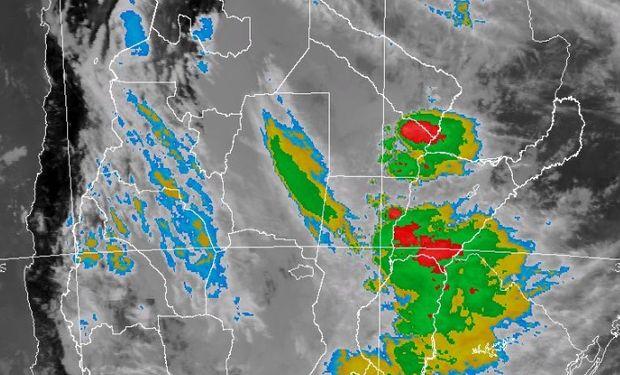 Alerta por tormentas del SMN.