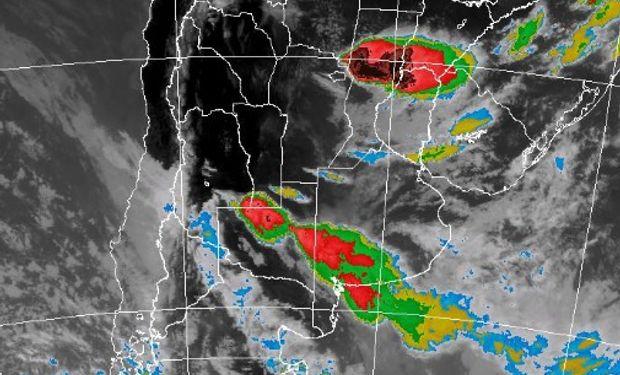 Tormentas fuertes sobre la región central.