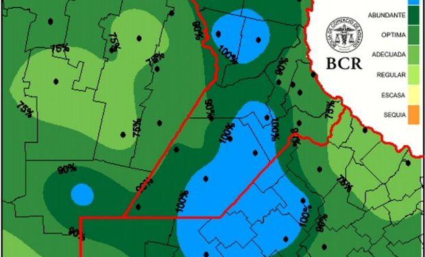 Cultivos en alerta roja por la sobrecarga de agua. Fuente: BCR