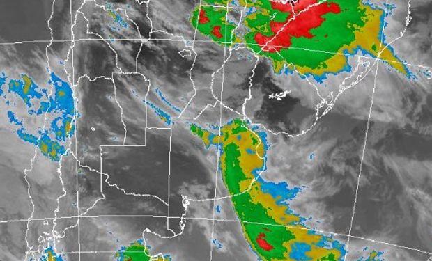 Alerta por tormentas fuertes del SMN.