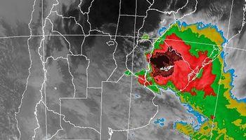 Alerta por tormentas sobre regiones del centro