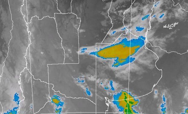 Alerta del SMN por tormentas intensas o severas.