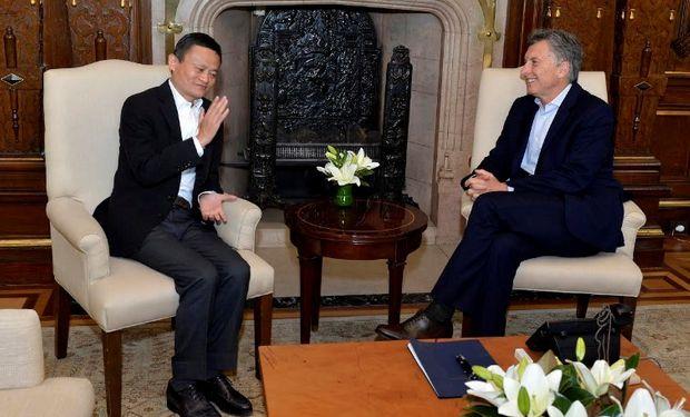 Macri recibió al empresario chino Jack Ma, presidente de Alibaba.