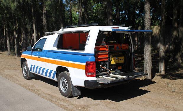 Se trata de camionetas Amarok 4×4 convertidas en un taller móvil
