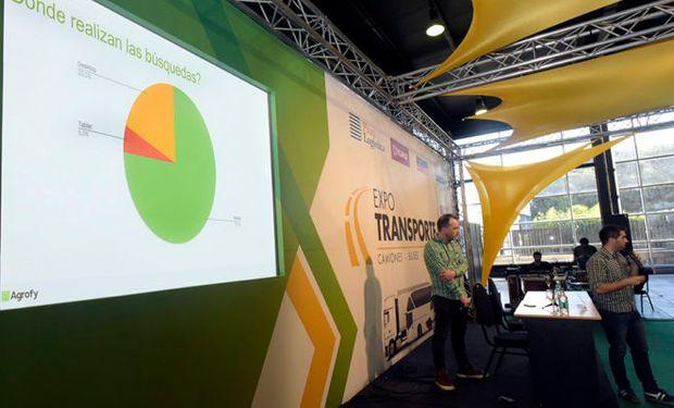 El gerente Comercial de Agrofy, Diego Vidal, en una disertación ofrecida durante la Expologisti-k.