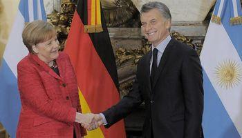 Macri recibió a la canciller Ángela Merkel en la Casa de Gobierno
