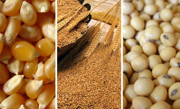 Los futuros de soja y de los cereales se ven presionados en la apertura de semana en Chicago.