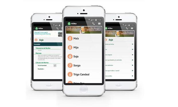Se puede buscar y descargar la aplicación con el nombre ACBsa - Calidad de Granos.