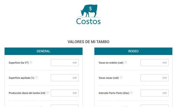 Descargar la app en http://lecheria-costos.inta.gob.ar/