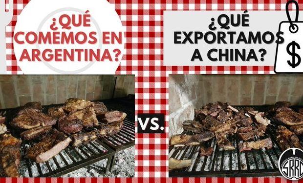 Hicieron un asado para mostrar la carne que se exporta a China y la que se consume en Argentina