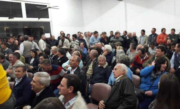 Asamblea que se llevó a cabo en Crespo, Entre Ríos.