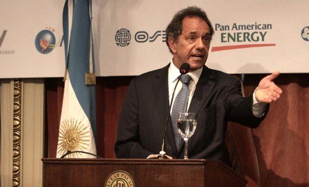 """""""Topo"""" Rodríguez manifestó que """"Scioli le va a garantizar rentabilidad al que invierta para producir""""."""