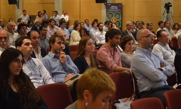 Auditorio del 16° Seminario de Comercialización de Granos. Organizado por Globaltecnos y CREA.