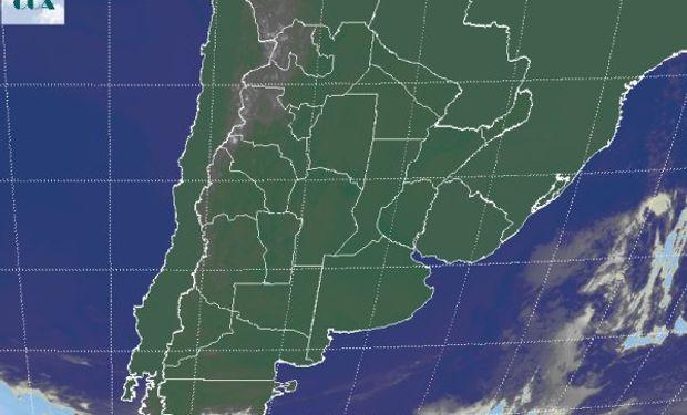 Cielos despejados en gran parte del sudeste de Sudamérica.